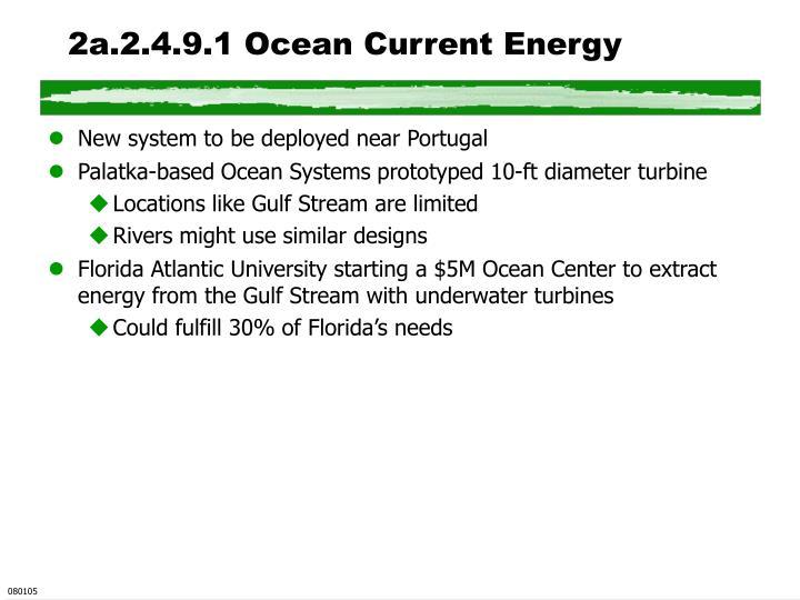 2a.2.4.9.1 Ocean Current Energy
