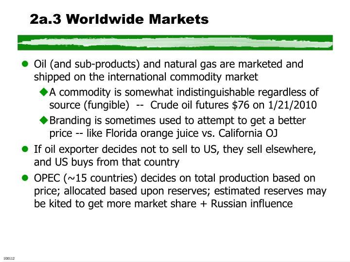 2a.3 Worldwide Markets