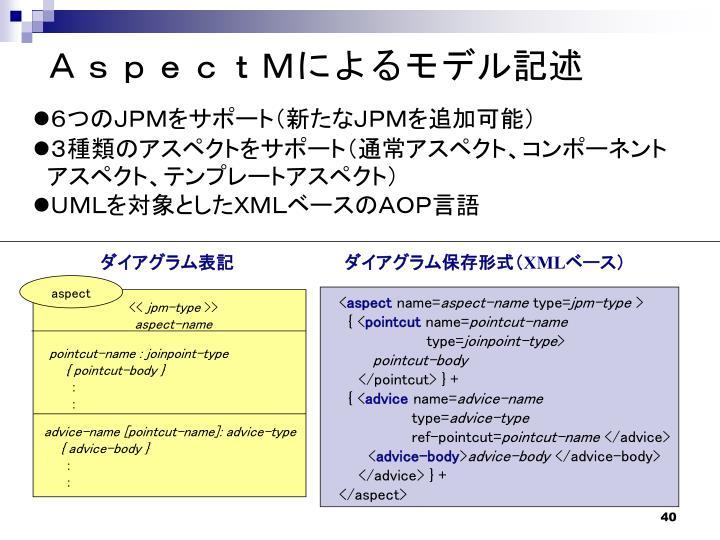 AspectMによるモデル記述