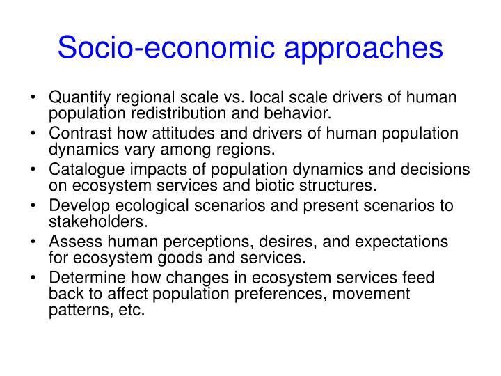Socio-economic approaches