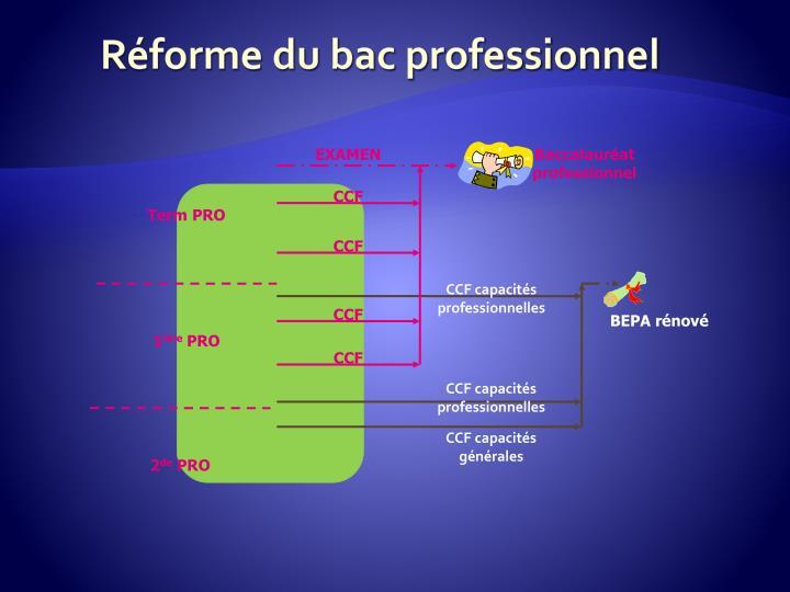 Réforme du bac professionnel