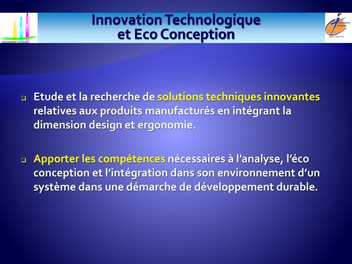 Innovation Technologique