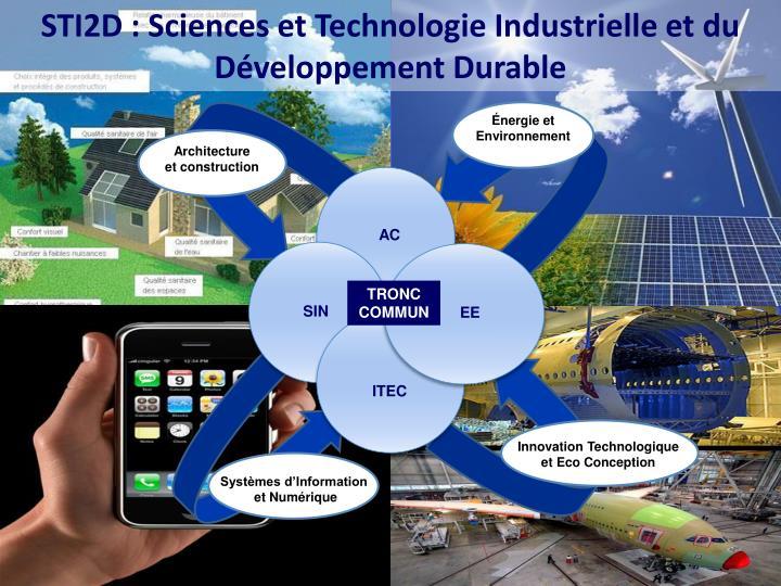 STI2D : Sciences et Technologie Industrielle et du