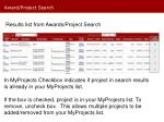 award project search4