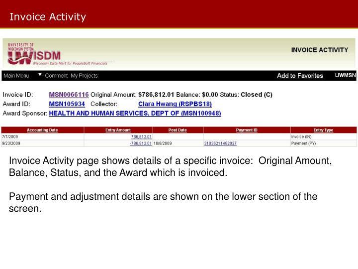 Invoice Activity
