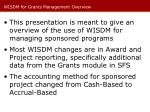 wisdm for grants management overview