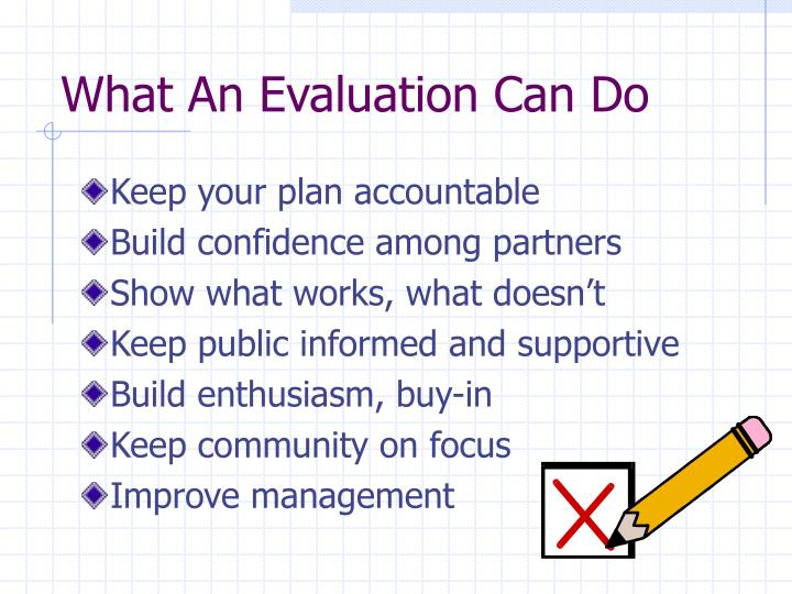 What An Evaluation Can Do