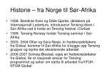 historie fra norge til s r afrika