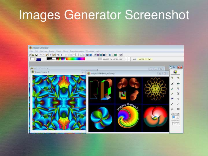 Images generator screenshot