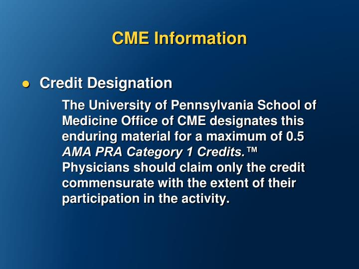 CME Information