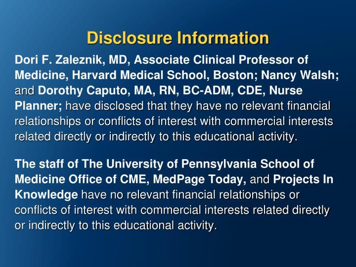 Disclosure Information