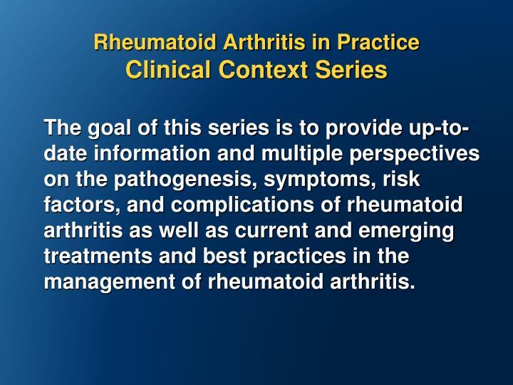 Rheumatoid Arthritis in Practice