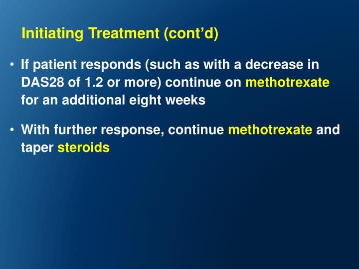 Initiating Treatment (cont
