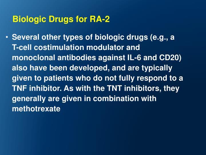 Biologic Drugs for RA-2