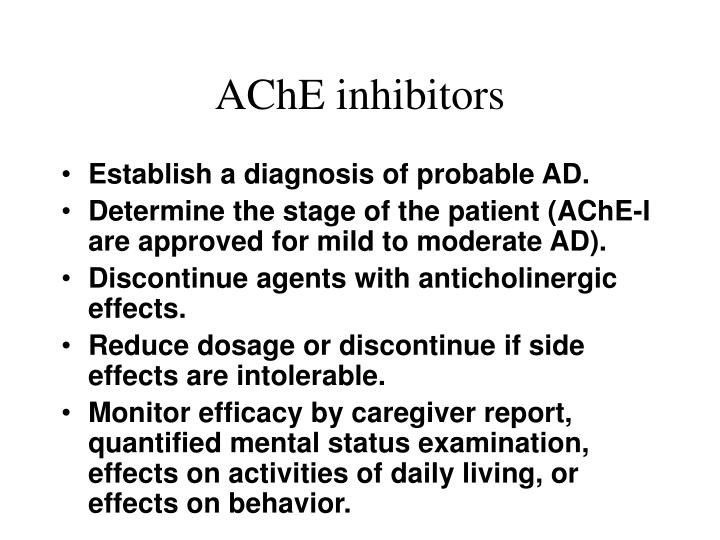 AChE inhibitors