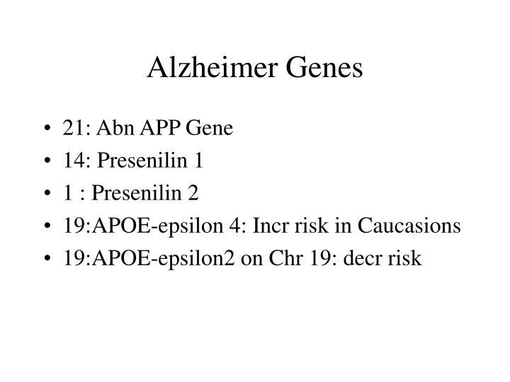 Alzheimer Genes