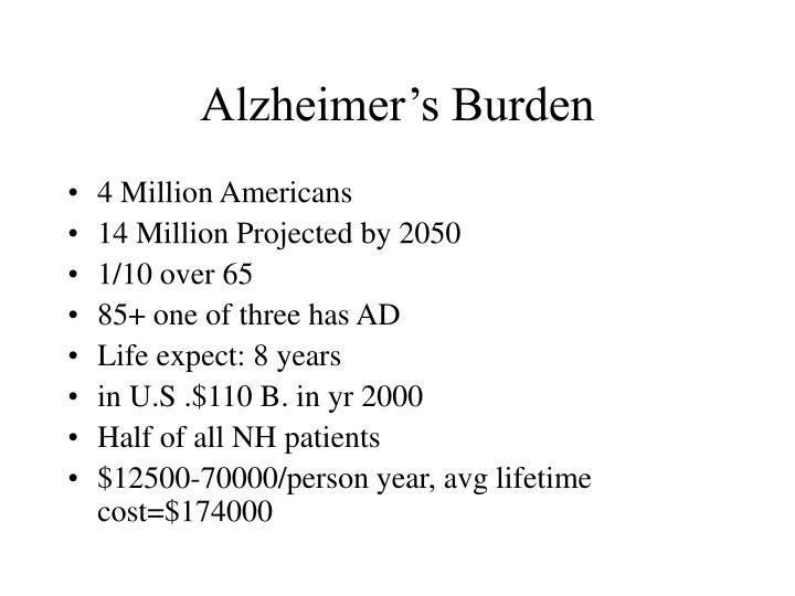 Alzheimer's Burden