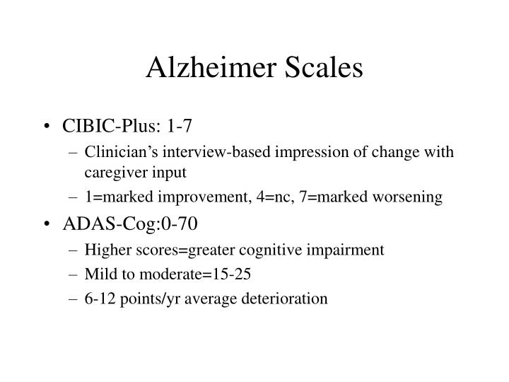 Alzheimer Scales
