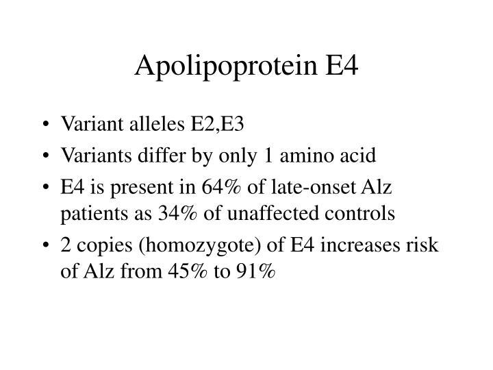 Apolipoprotein E4