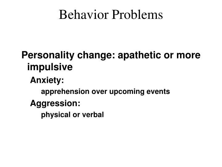 Behavior Problems