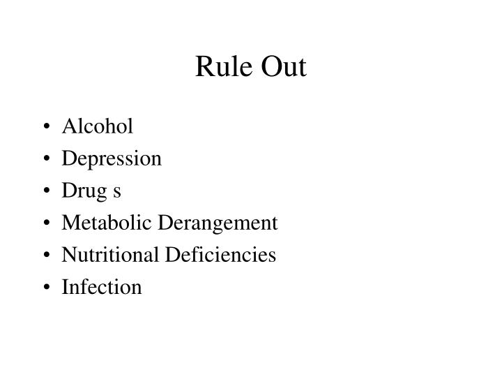 Rule Out