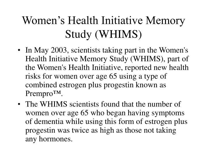 Women's Health Initiative Memory Study (WHIMS)