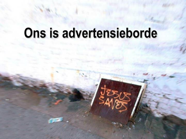 Ons is advertensieborde