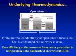underlying thermodynamics