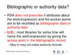 bibliographic or authority data