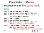 compilation different expressions of the same work1