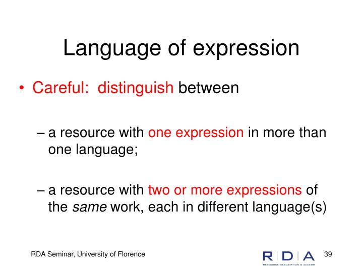 Language of expression