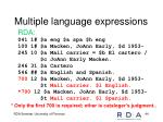 multiple language expressions1
