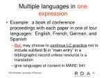 multiple languages in one expression