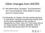 other changes from aacr24