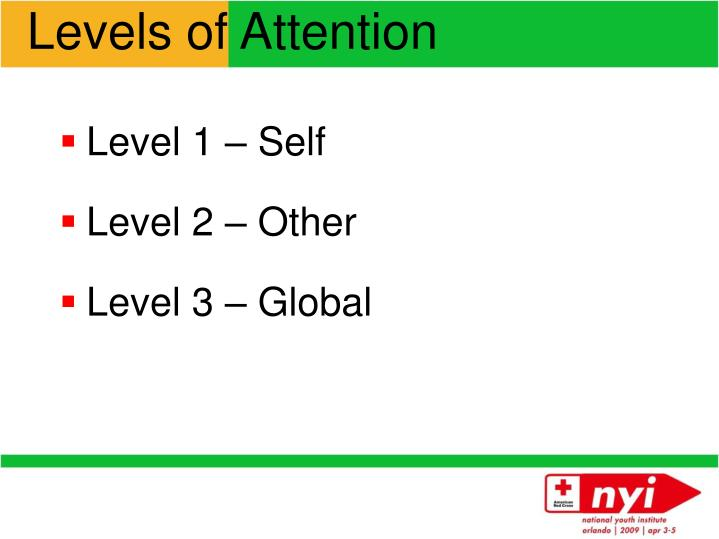 Levels of Attention