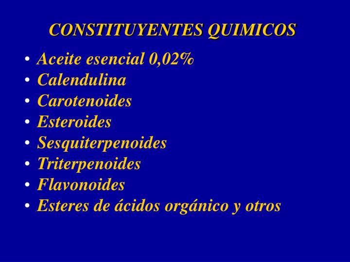 CONSTITUYENTES QUIMICOS