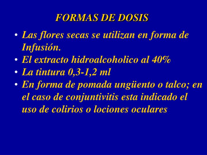 FORMAS DE DOSIS