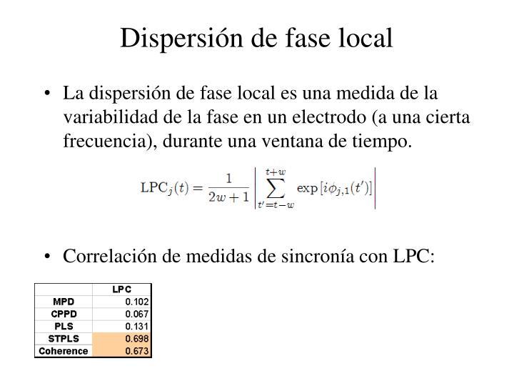 Dispersión de fase local