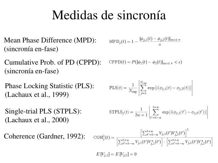Medidas de sincronía