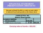 financial statement presentation discount