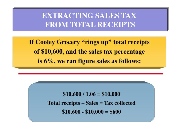 EXTRACTING SALES TAX