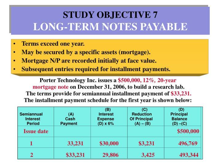 STUDY OBJECTIVE 7