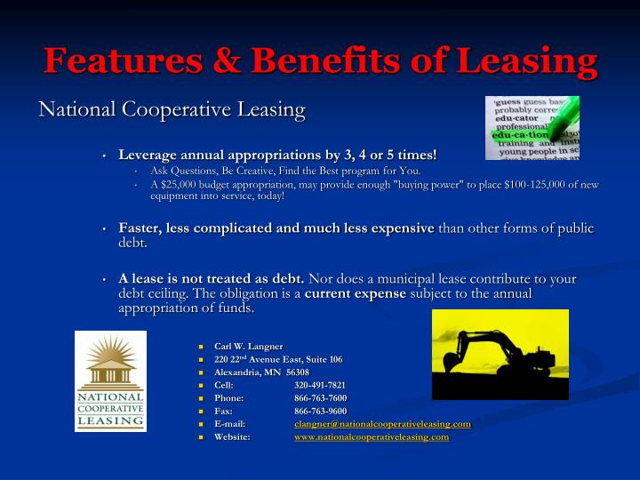 Features & Benefits of Leasing