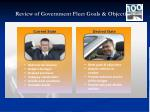 review of government fleet goals objectives