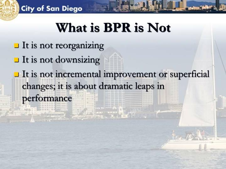 What is BPR is Not