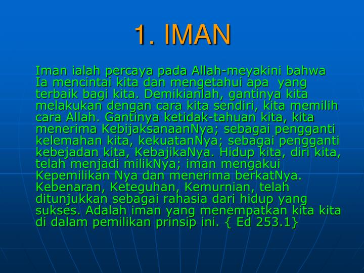 1. IMAN