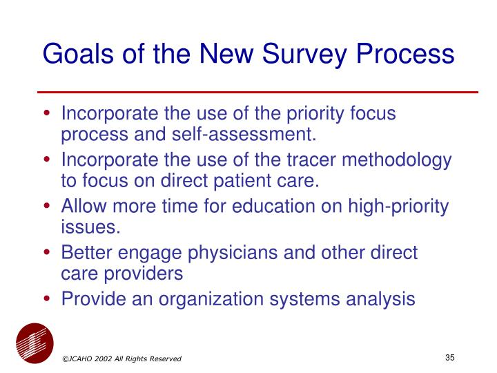 Goals of the New Survey Process