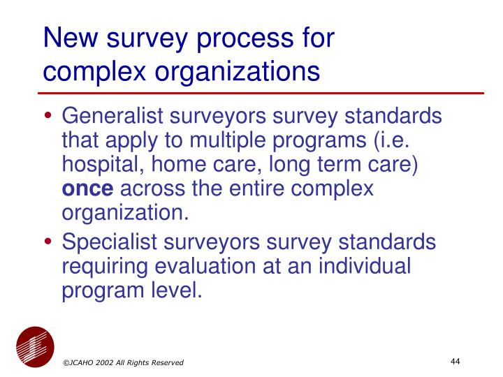 New survey process for