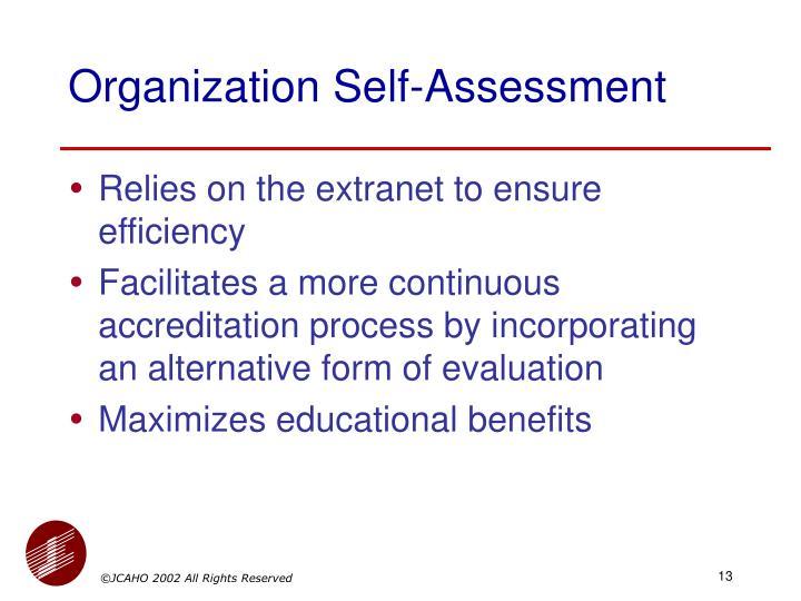 Organization Self-Assessment