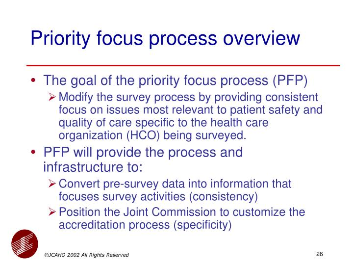 Priority focus process overview